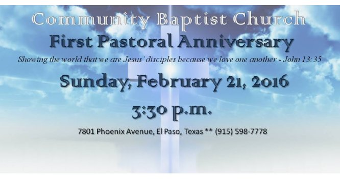Community Baptist Church El Paso Texas